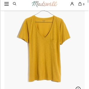 Madewell Whisper Cotton V-neck Cotton tee